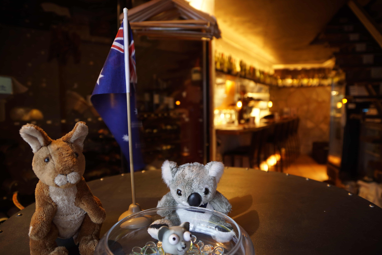 アロッサ渋谷_オーストラリア国旗とコアラ